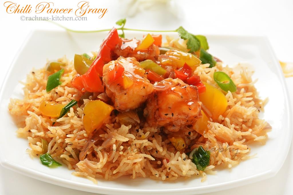 Chilli Paneer Gravy Recipe, How to make chilli paneer