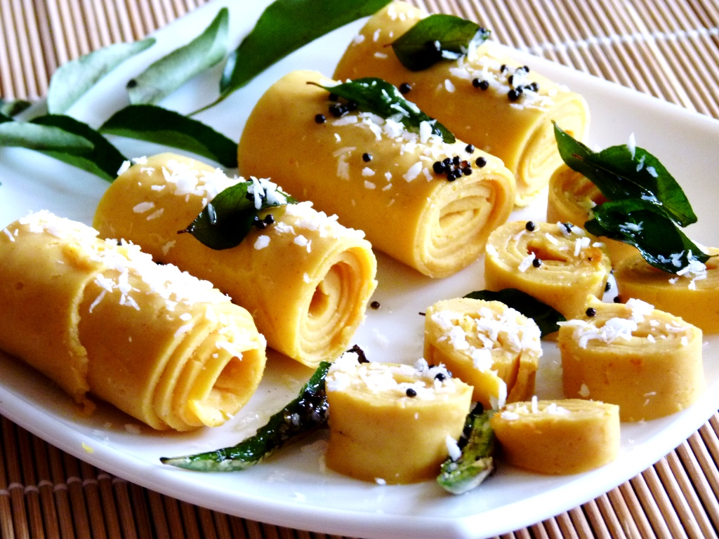 Khandvi recipe with step by step pictures khandvi forumfinder Gallery