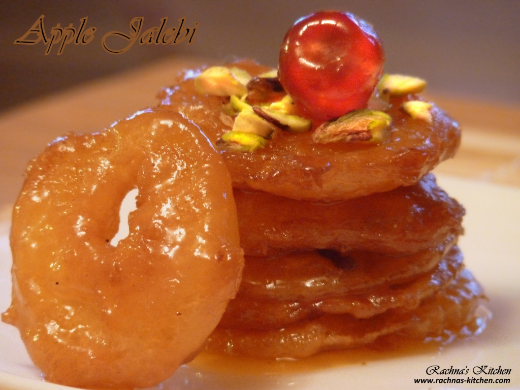 Indian Apple Jalebi Recipe , Apple Fritters