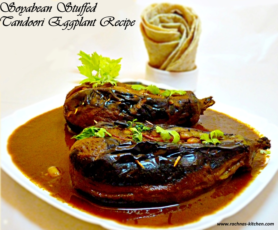 Soyabean Stuffed Tandoori Augerbine Recipe In Restaurant Style