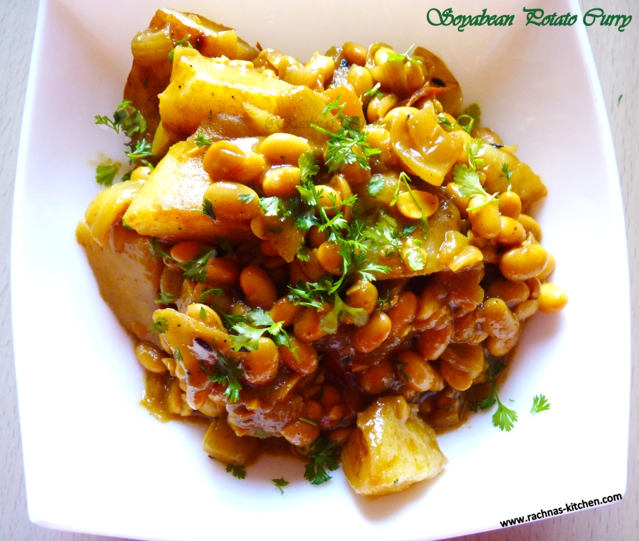 Soyabean potato curry