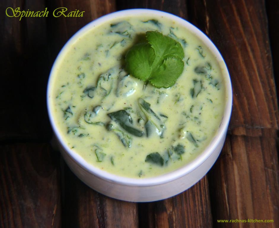 Spinach Raita Recipe | Spinach Dip