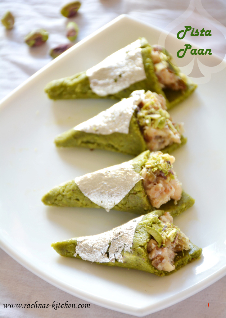 Pistachio paan recipe dessert recipes pista paan how to make pistachio paan forumfinder Image collections