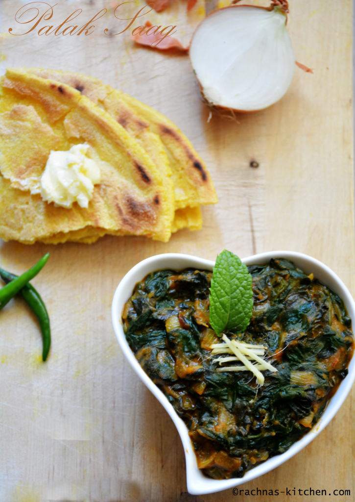 Spinach saag recipe step by step