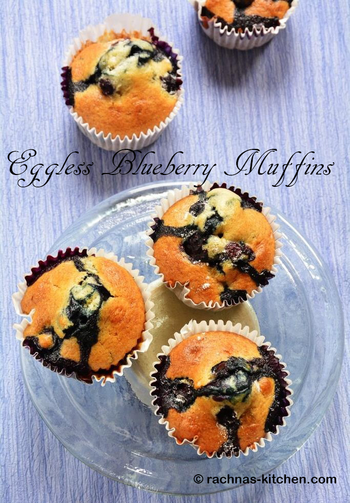 Eggless blueberry muffins  Best eggless blueberry muffin recipe