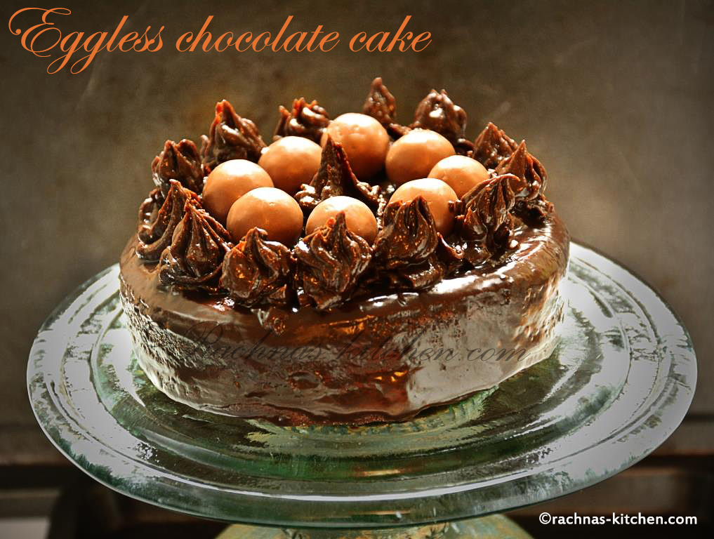 Eggless Chocolate Cake Recipe Using Condensed Milk
