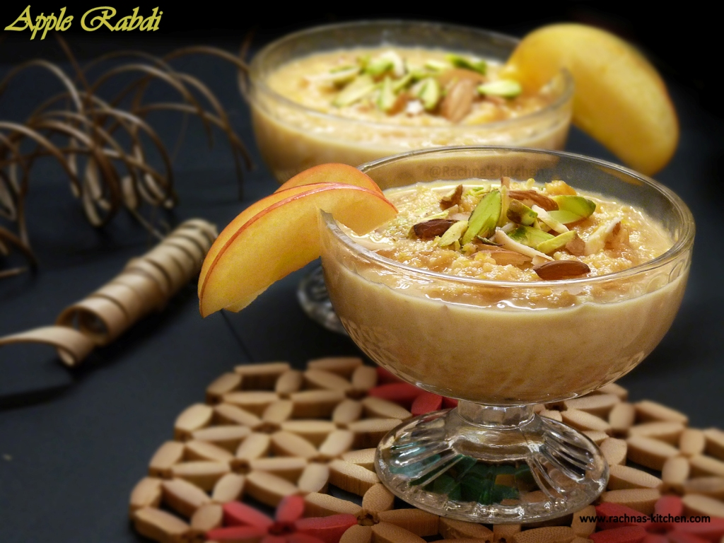 how to make apple rabdi