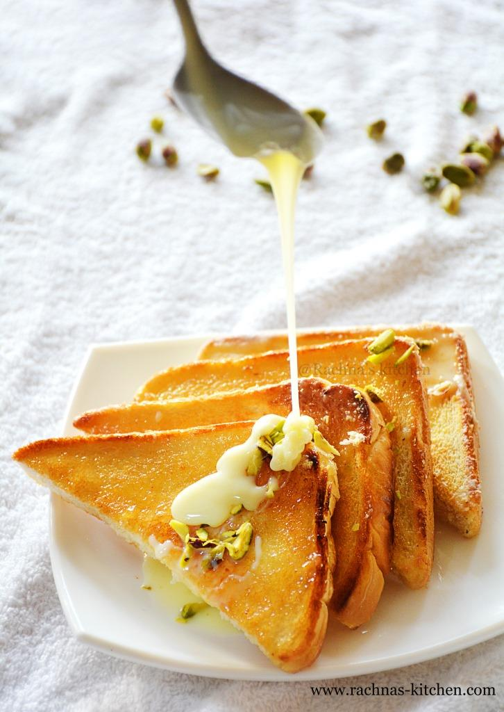 Instant shahi tukda recipe for raksha bandhan