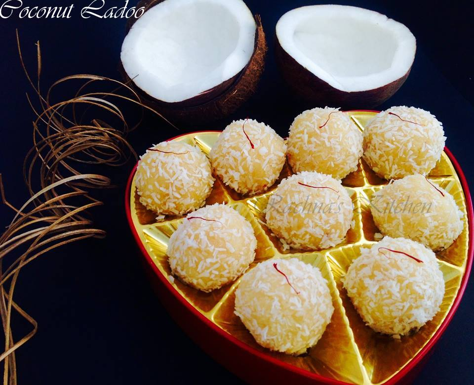 Coconut ladoo recipe for raksha bandhan