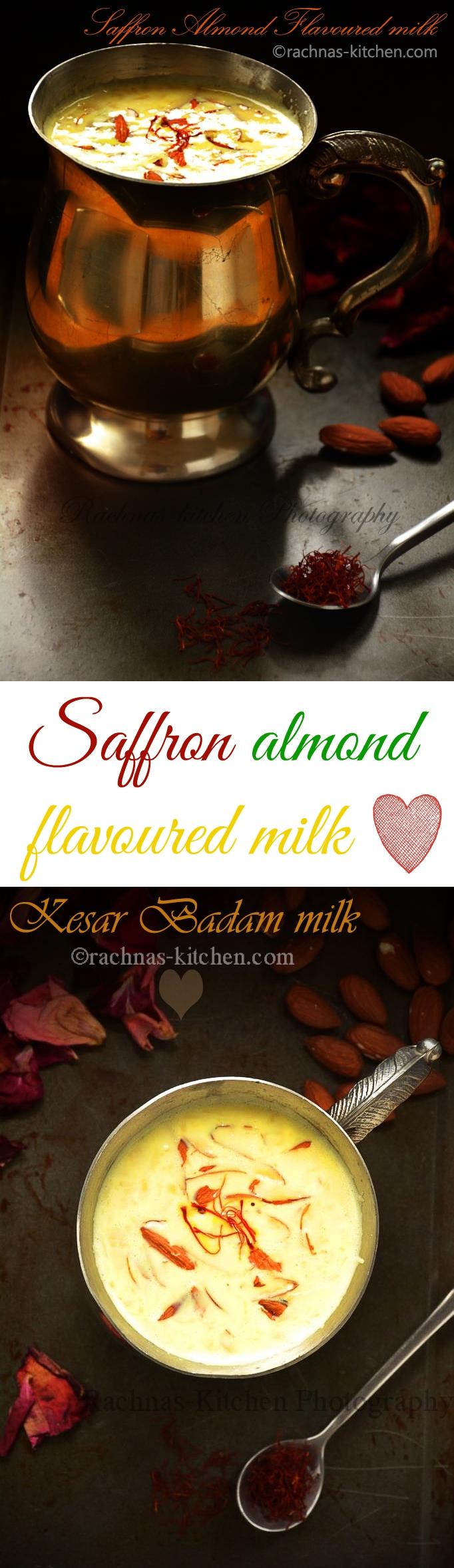 almond saffron milk recipe