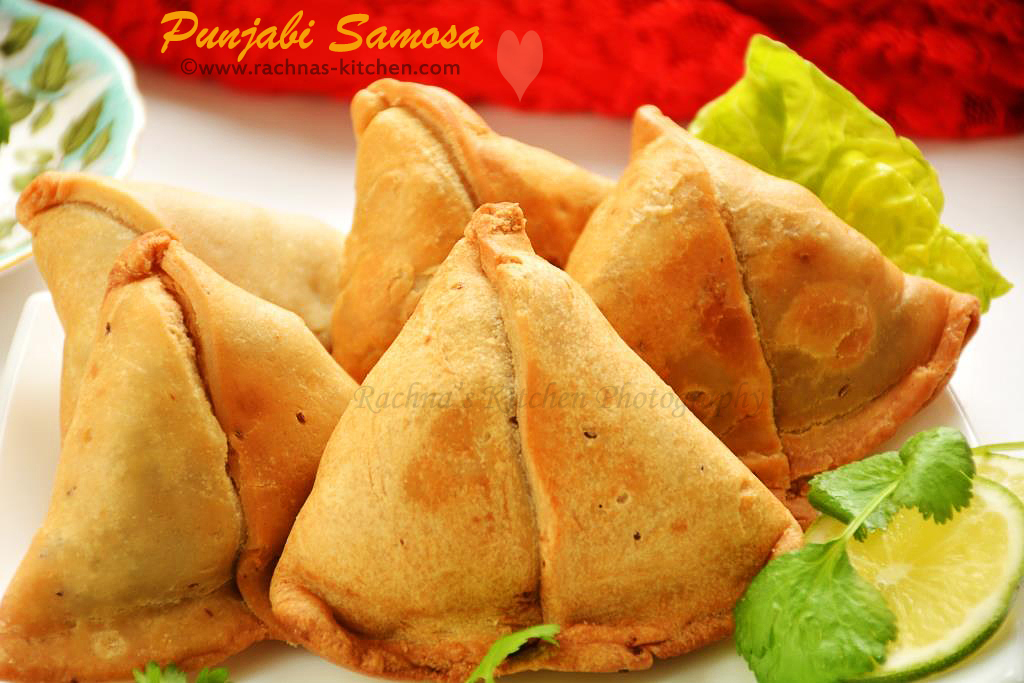 Punjabi Samosa Recipe, How to make aloo samosa with video - Rachna's ...