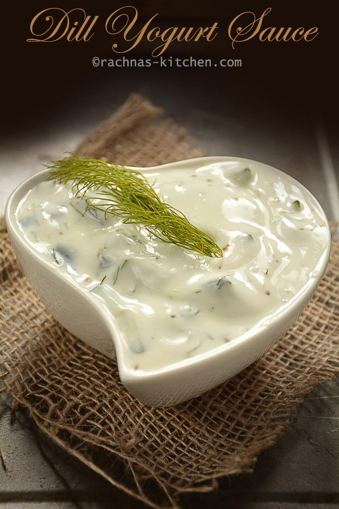 Dill sauce recipe, How to make dill sauce | Yogurt dill sauce