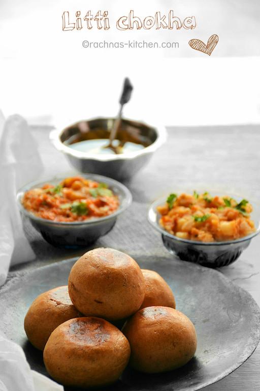 Litti Chokha (Step By Step Recipe With Pics ) | How to make litti chokha