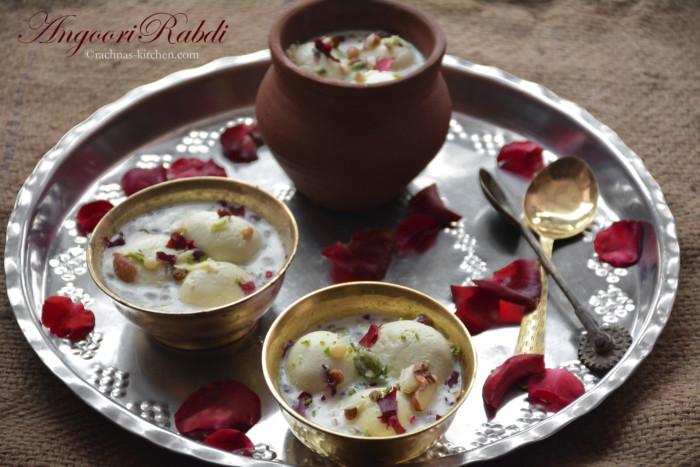 Angoor rabdi recipe, How to make angoor rabdi  Angoori rasmalai