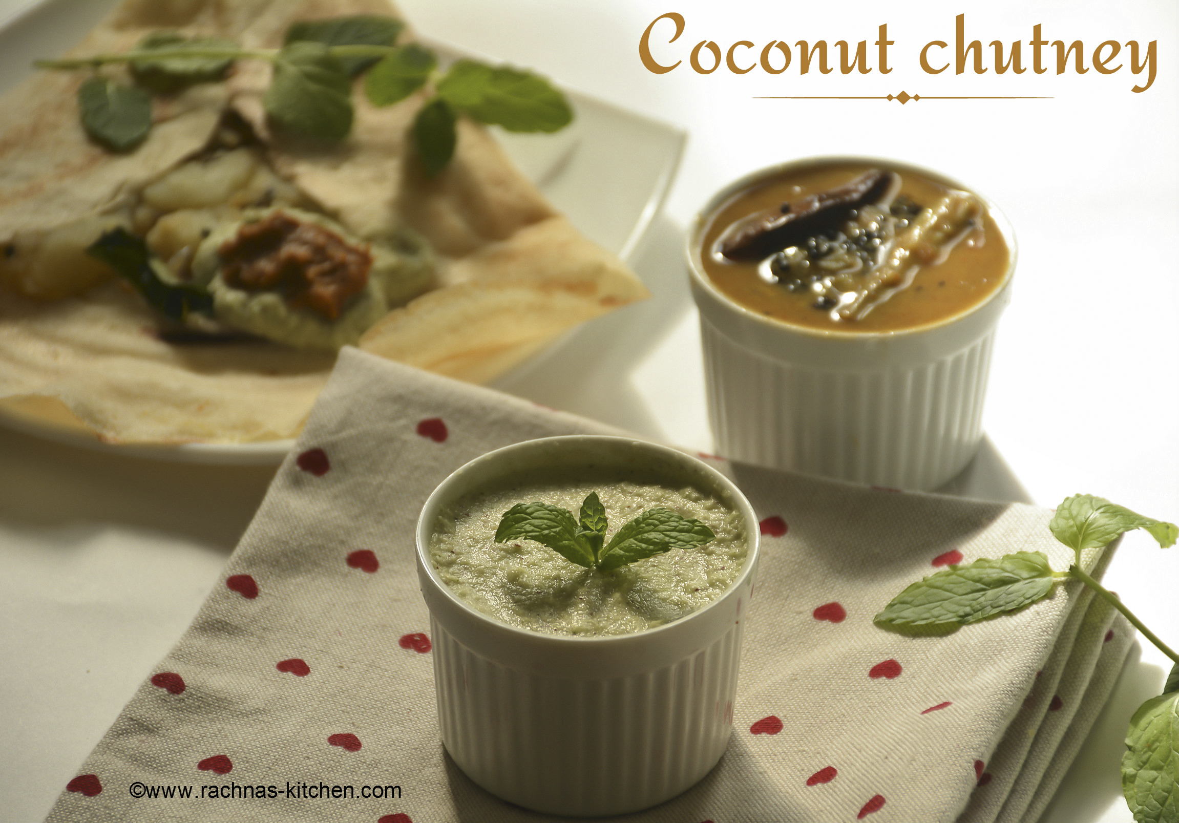 Coconut chutney recipe, How to make coconut chutney | nariyal ki chutney
