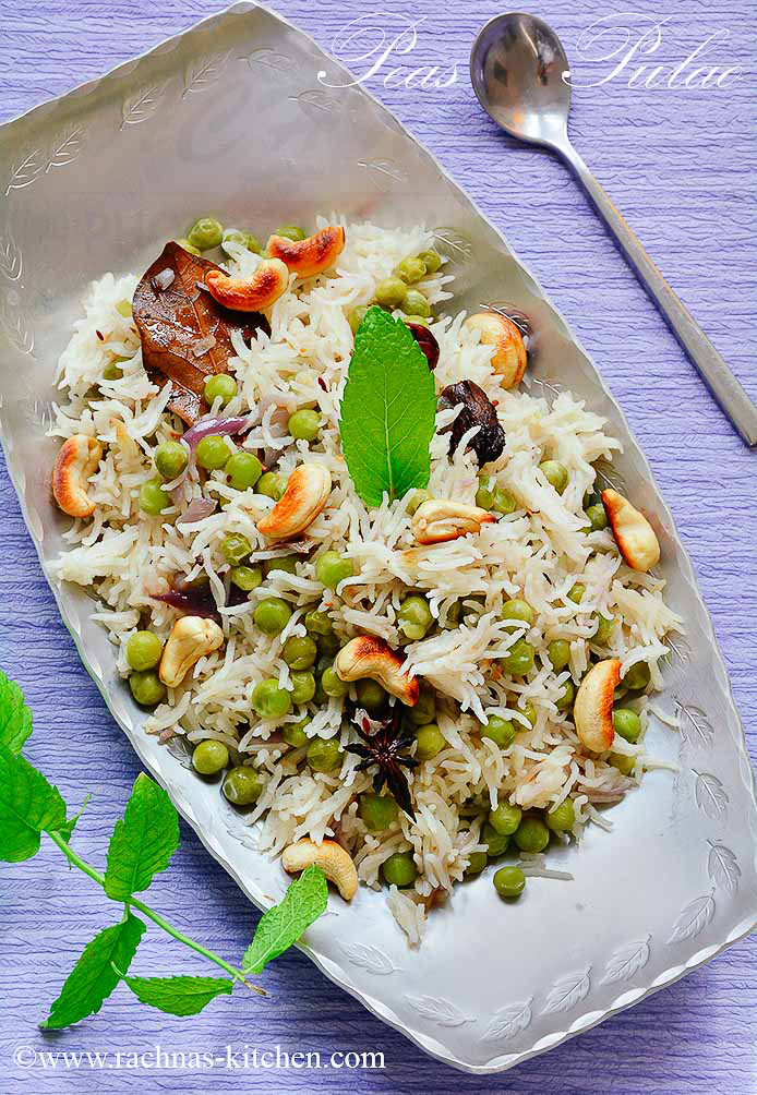 Peas Pulao Recipe, How To Make Matar Pulao | Rice With Peas Recipe