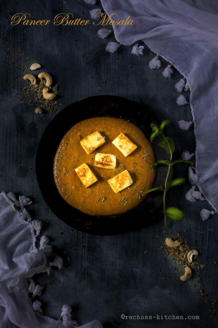 Paneer Butter Masala Recipe (with Step by Step Photos)(Video Recipe)