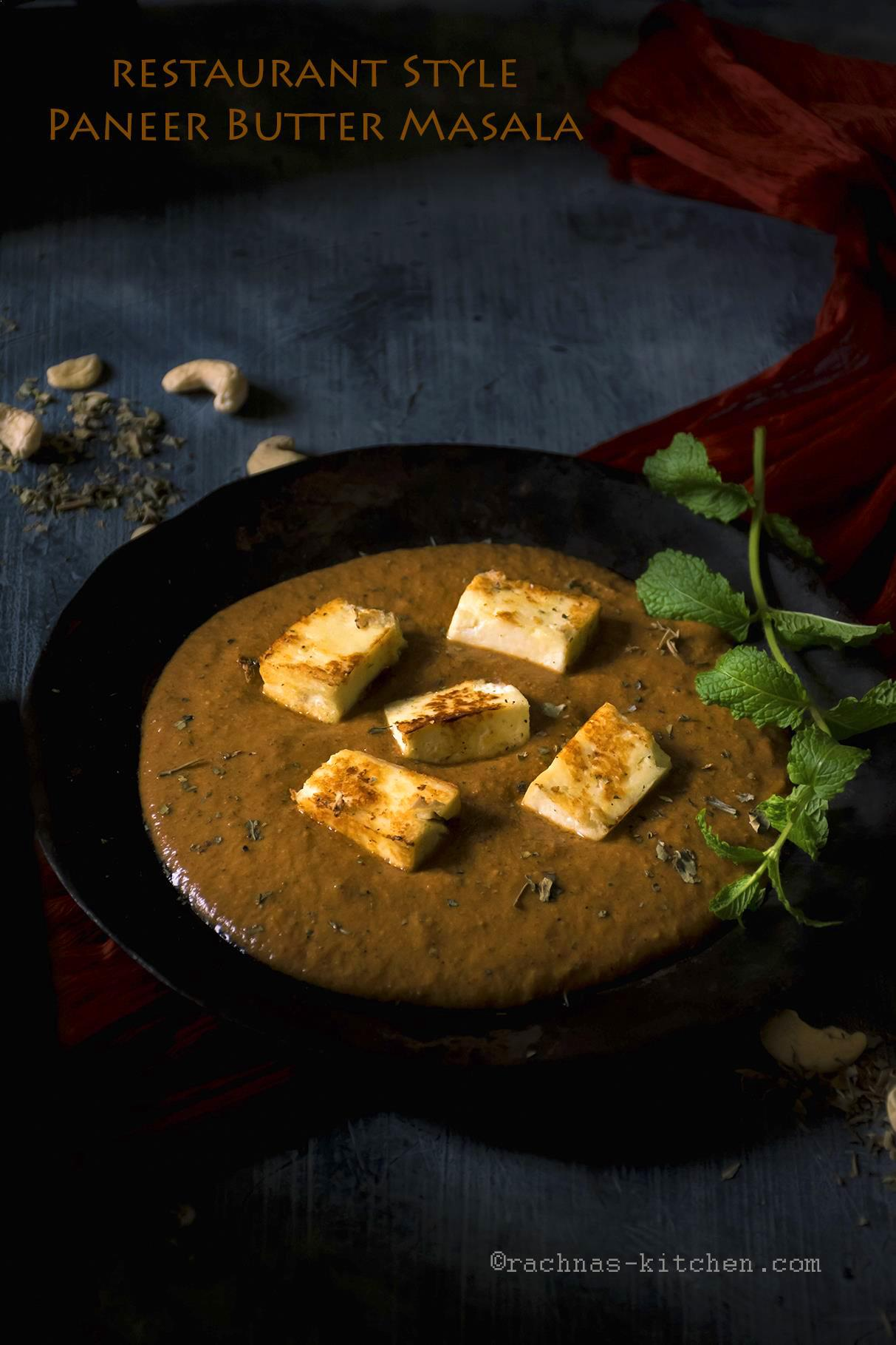 Authentic paneer butter masala