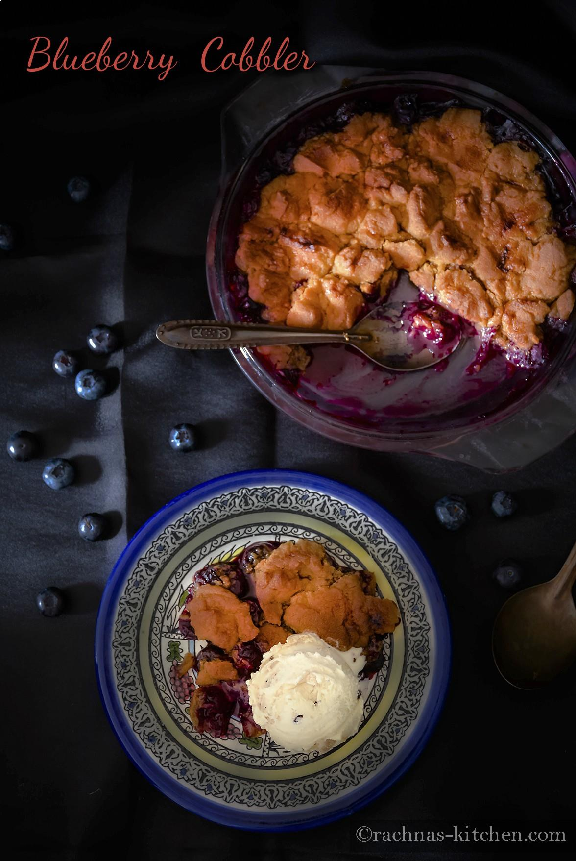 easy blueberry cobbler recipe
