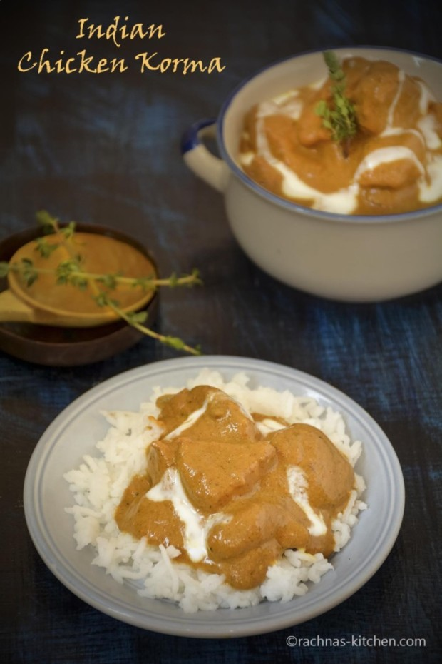 Chicken korma recipe with coconut milk