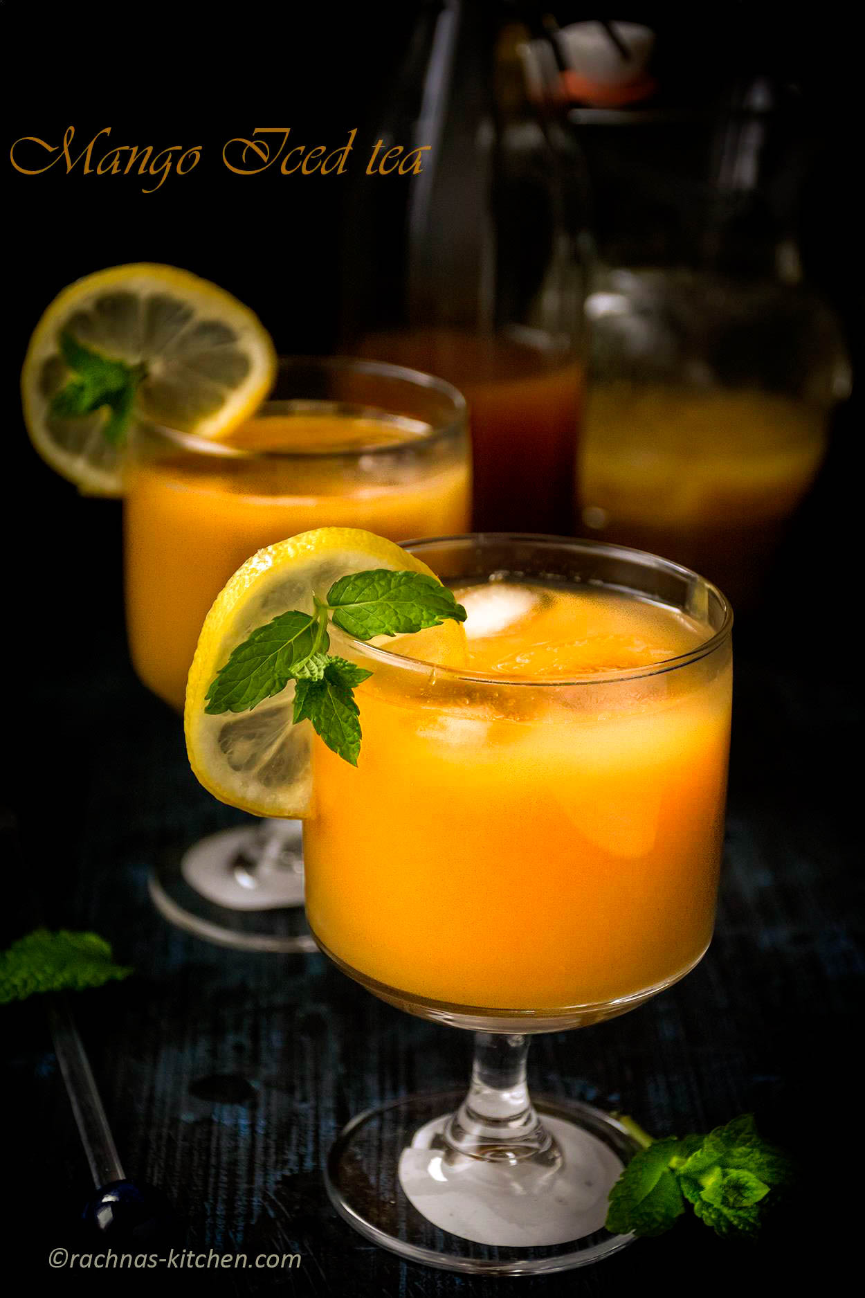 Mango Iced Tea Recipe, How To Make Mango Iced Tea
