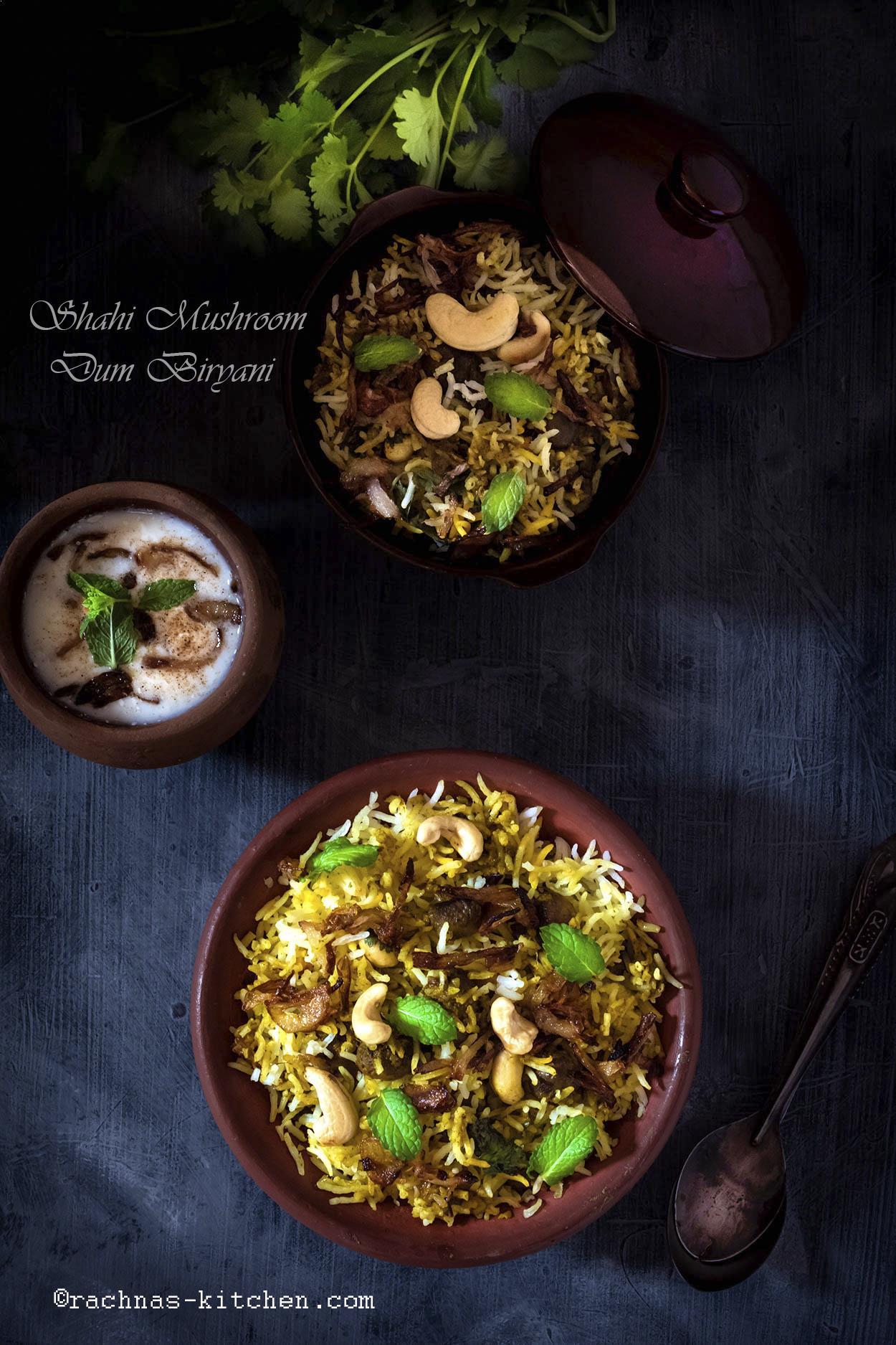 Mushroom Biryani, How To Make Shahi Mushroom Biryani
