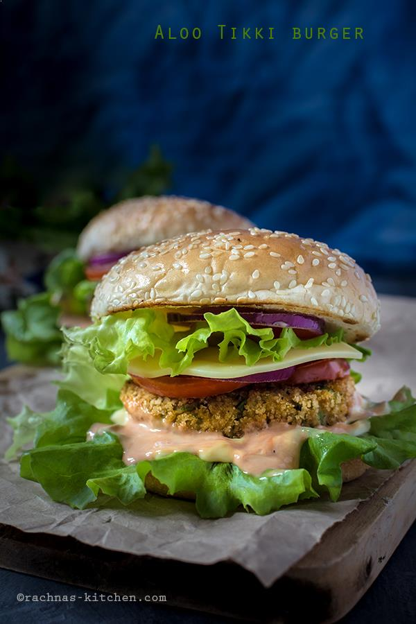 McAloo Tikki Burger Recipe, How To Make Veggie Burger