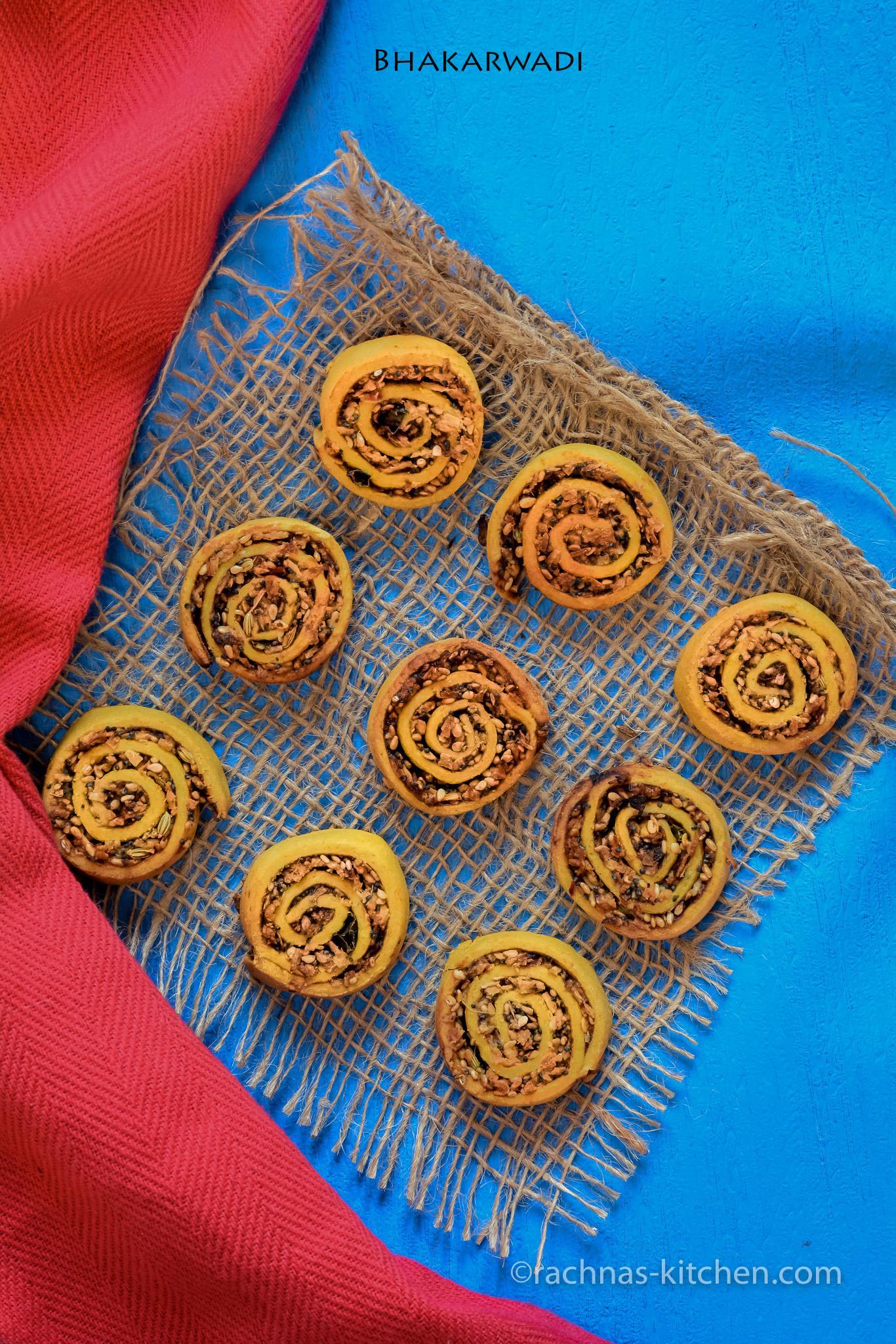 Bhakarwadi recipe, Baked Bhakarwadi Recipe