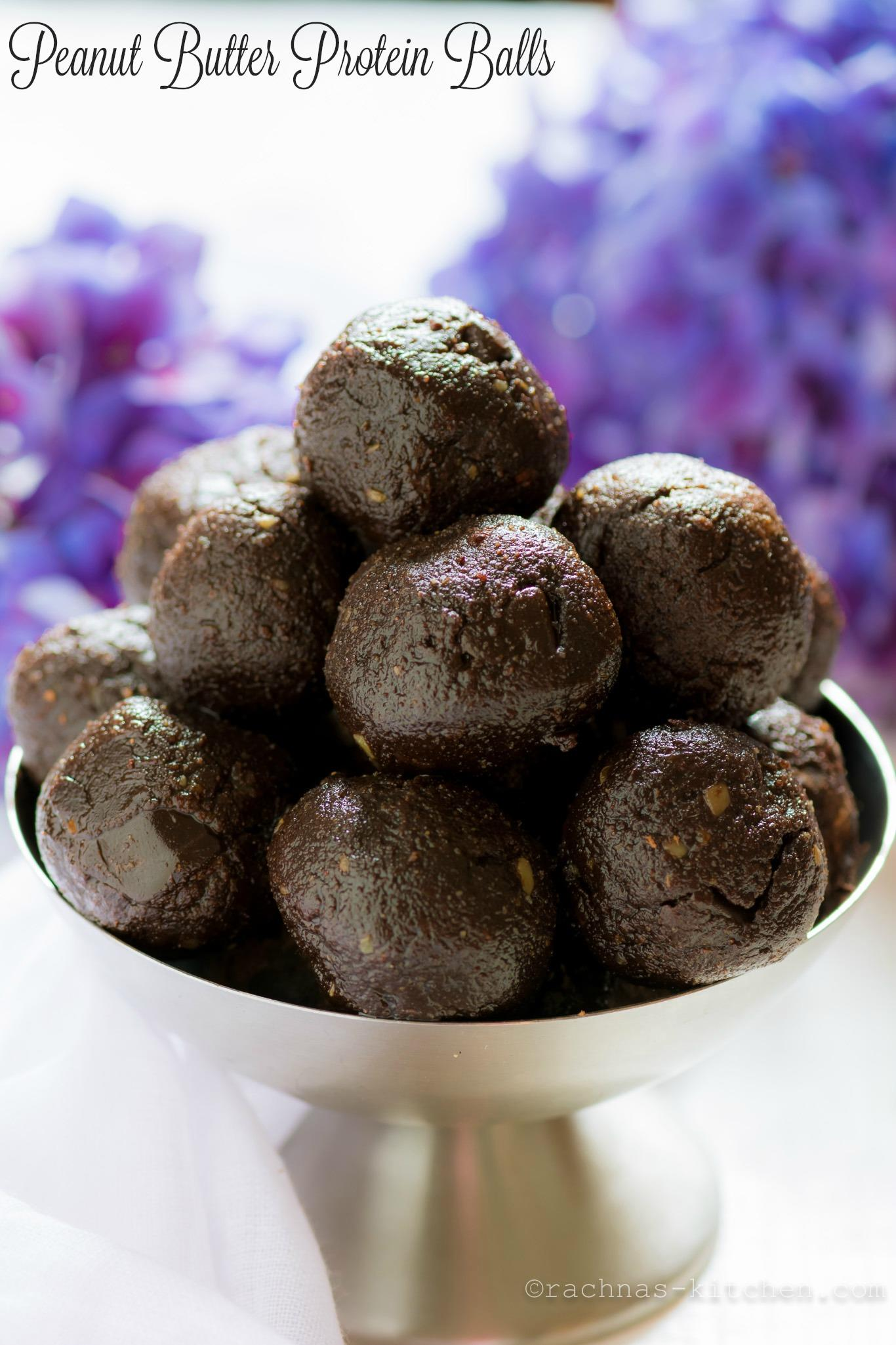Peanut Butter and Chocolate Protein Balls