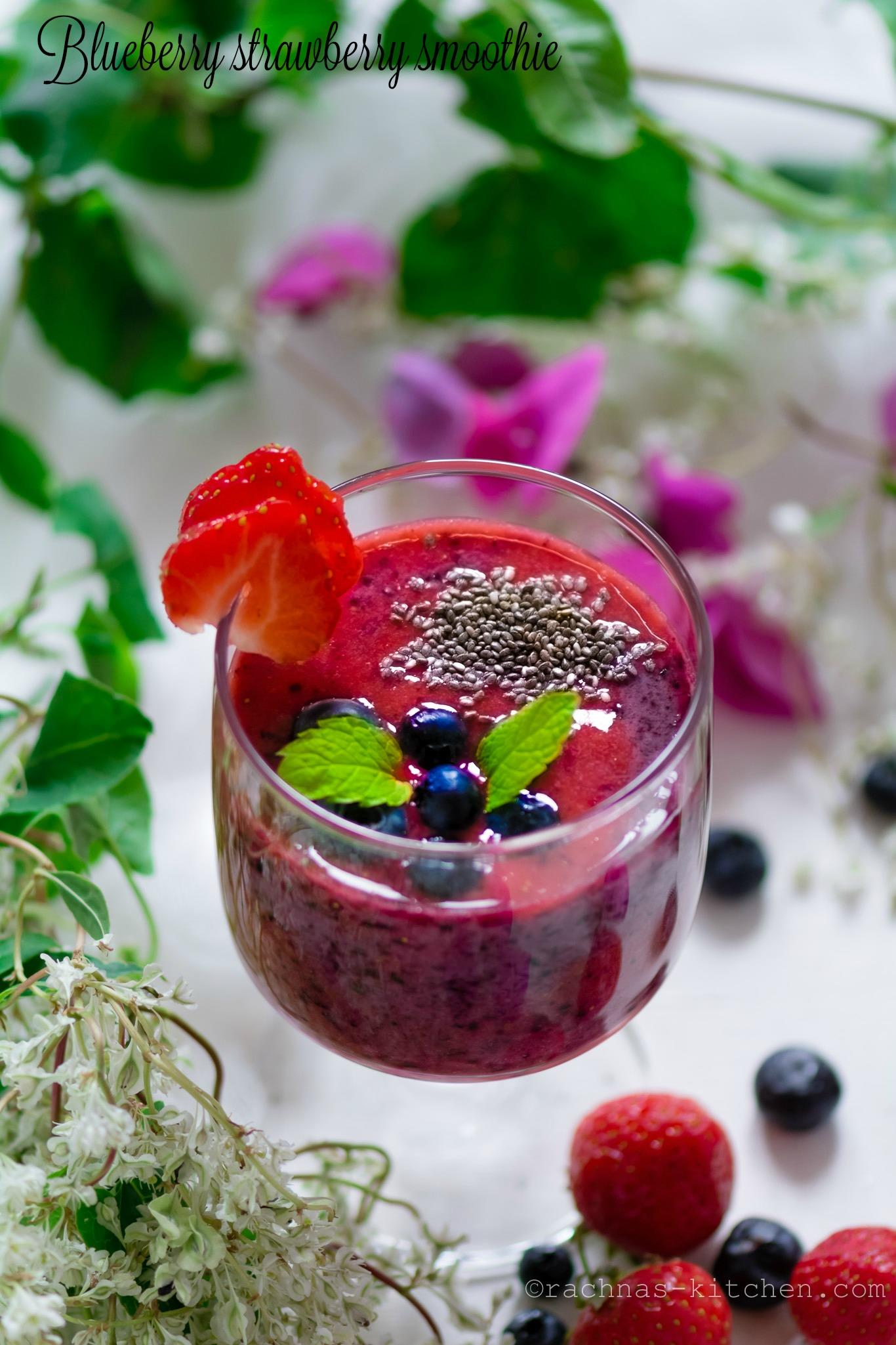 Strawberry blueberry smoothie recipe