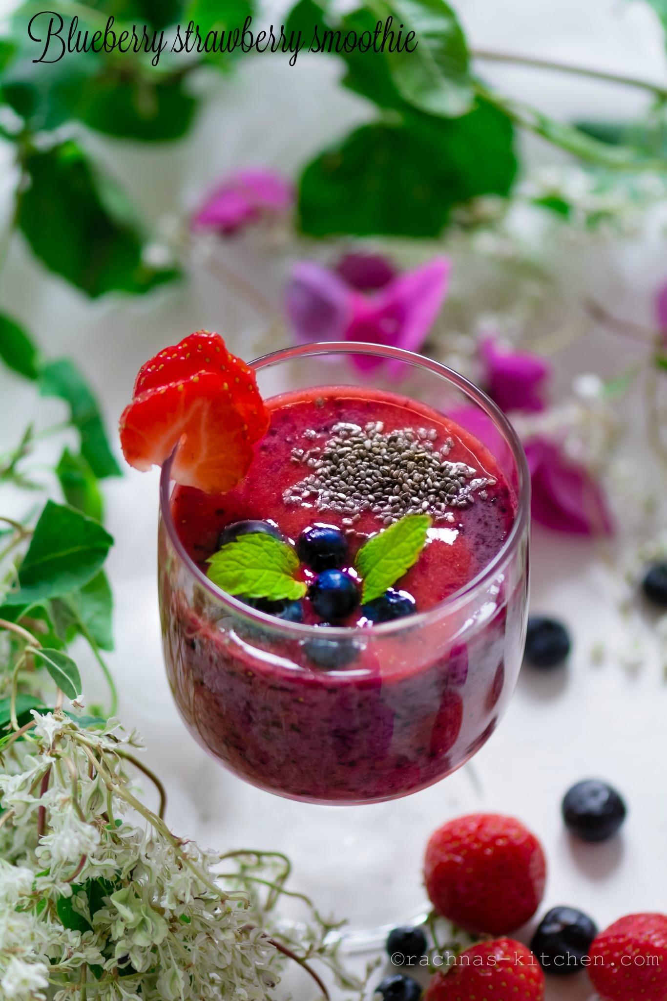 Strawberry blueberry smoothie recipe