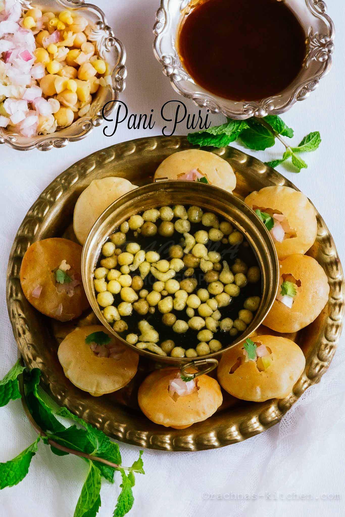 Pani puri recipe how to make best pani puri at home video recipe pani puri recipe forumfinder Choice Image