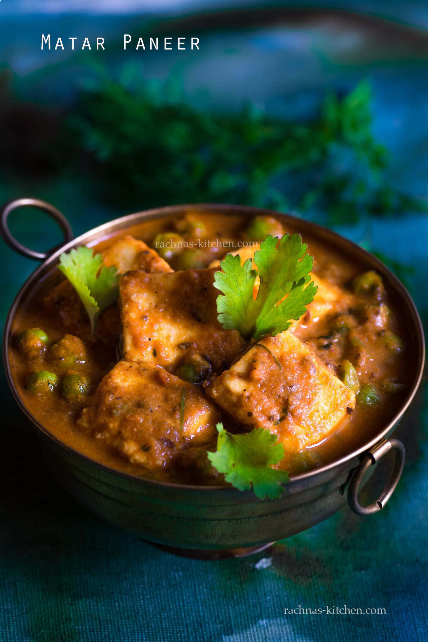 Matar paneer recipe, Mutter paneer masala recipe (Video Recipe)