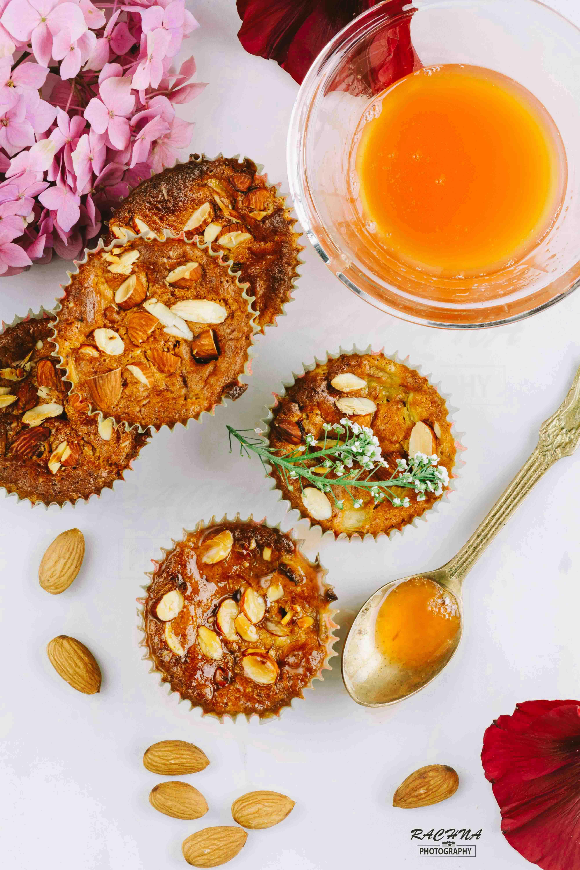 eggless Rhubarb muffins recipe