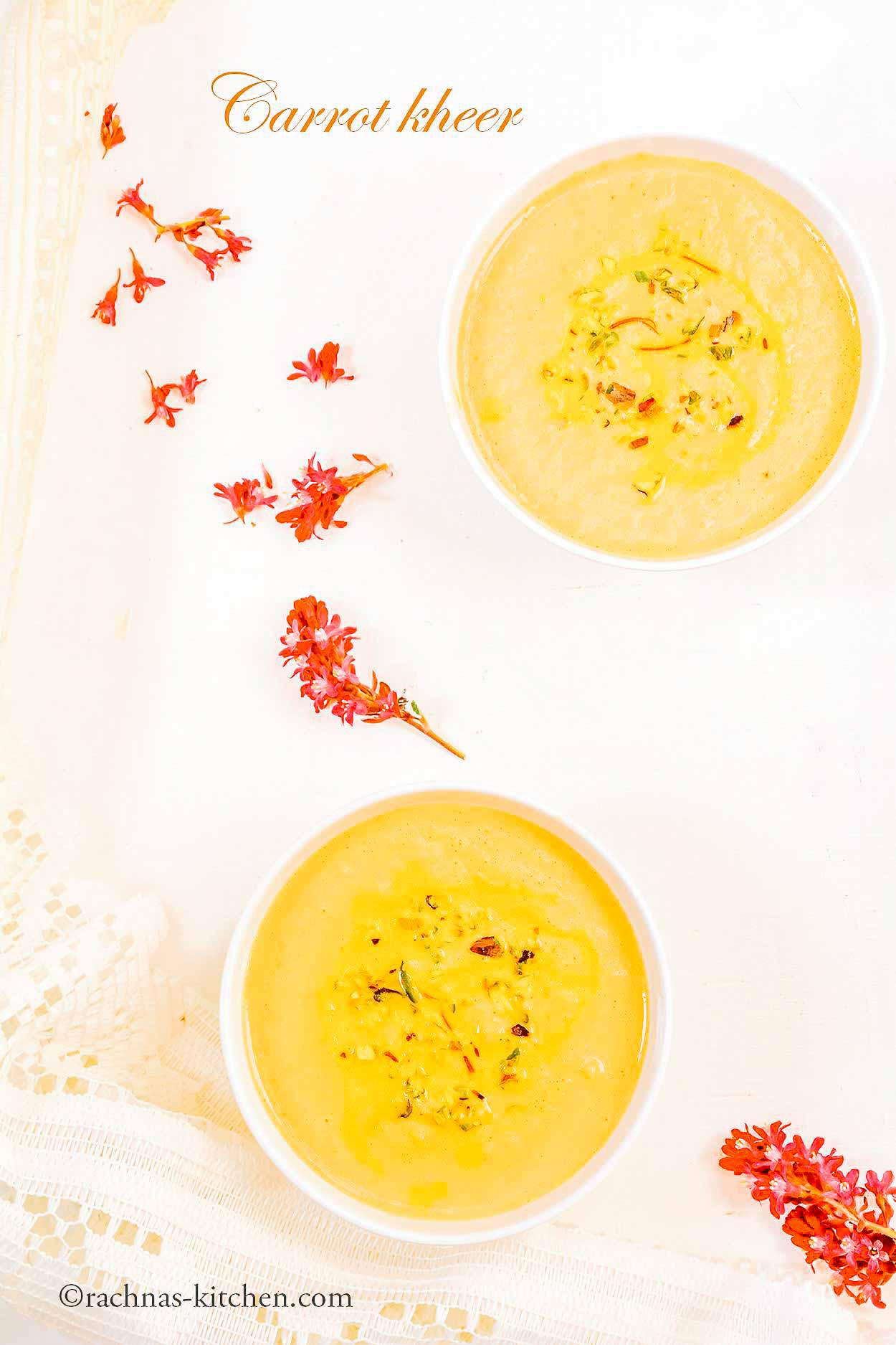 Carrot Kheer Recipe, Carrot Payasam
