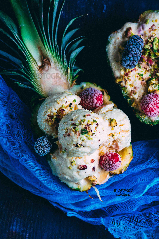 3 Ingredient Pineapple Ice cream recipe No eggs No machine