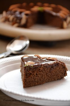Chocolate cake with condensed milk