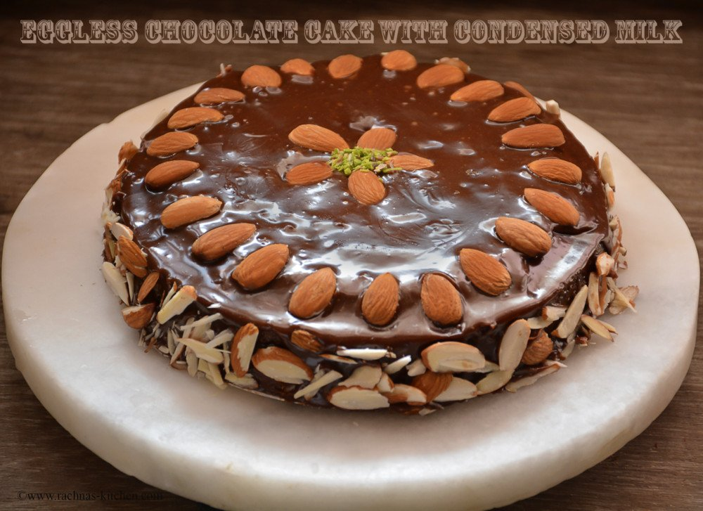Cake With Chocolate Condensed Milk : Eggless cake recipe, Eggless cake with condensed milk ...
