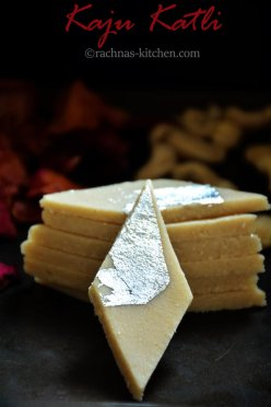 Kaju katli recipe, How to make kaju katli | Kaju barfi (Video recipe )