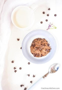 Eggless cookie in a minute