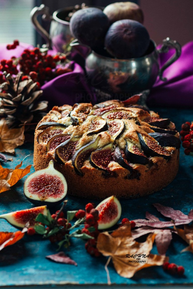 Figs and almond cake recipe 1