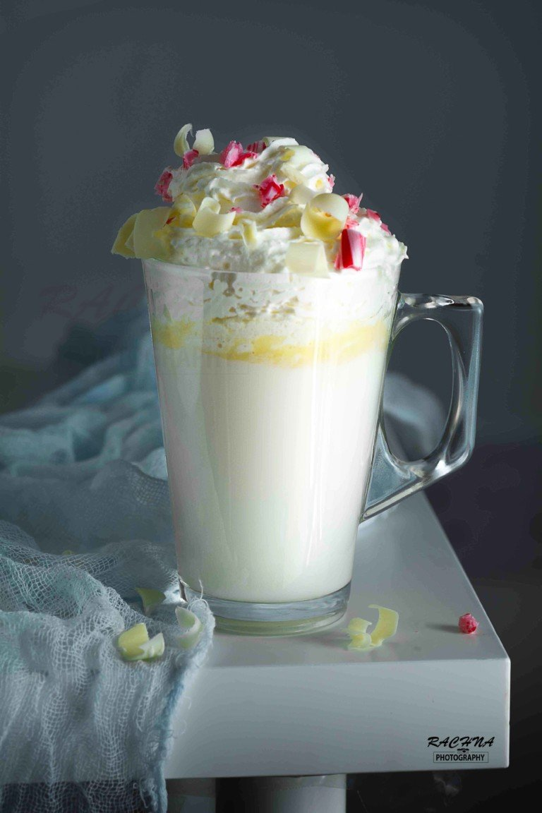 White Chocolate Peppermint Hot Chocolate