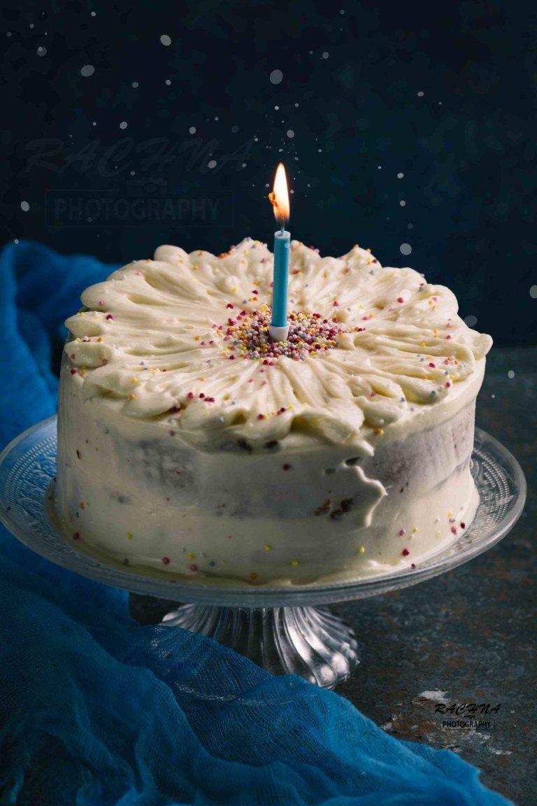 Astounding Eggless Vanilla Cake Recipe Egg Free Vanilla Cake Egg Free Cake Funny Birthday Cards Online Overcheapnameinfo